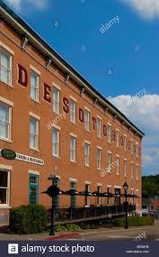 Galena Illinois Historic Desoto House Hotel Galena Illinois Stock Photo Royalty