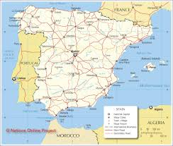San Sebastian Spain Map by Political Map Of Spain Major Roads The Big Day Pinterest