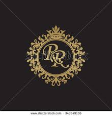 rr initial luxury ornament monogram logo stock vector 343549106