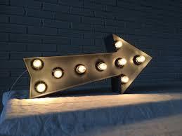 arrow of light decorations wall decor living room industrial decor metal arrow light up