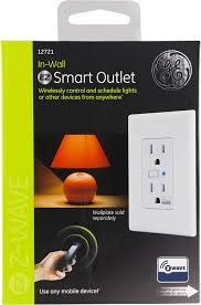 ge z wave wireless smart lighting control duplex receptacle outlet