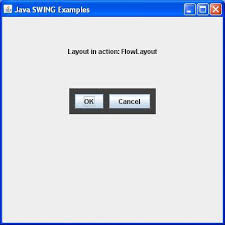 layout manager tutorialspoint swing flowlayout class