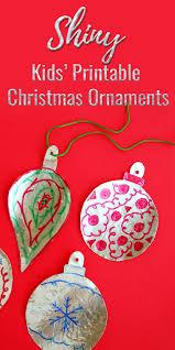 shiny printable ornament craft