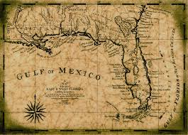 louisiana florida map gulf of mexico map c 1792 map 12 x