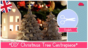 diy tutorial christmas centerpiece fabric trees easy funny and