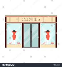 boutique womens clothing shop flat design stock vector 484942165