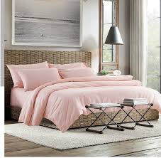 2015 100 cotton light pink bedding set sheets king