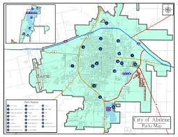 Tx Zip Code Map by Abilene City Parks Map Abilene U2022 Mappery