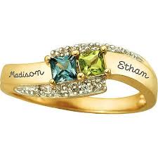 ring with birthstones keepsake personalized family jewelry s tranquility promise
