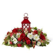 Christmas Centerpiece Images - christmas floral lantern centerpiece at send flowers