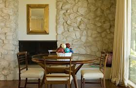 river rock ralph lauren paint dining room transitional with hearth