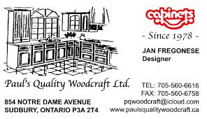 Kitchen Cabinets Ontario by Paul U0027s Quality Woodcraft Ltd Sudbury On Kitchen Cabinets