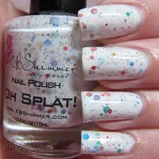 princessly polished kbshimmer oh splat nail polish