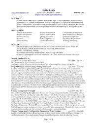 Enterprise Management Trainee Program Resume Configuration Management Analyst Sample Resume Sioncoltd Com