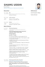 Resume Sample Engineer by Planning Engineer Resume Samples Visualcv Resume Samples Database