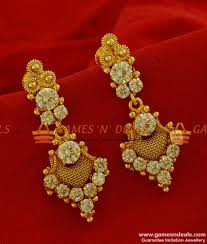big rings design images Er176 grand party wear big white stone imitation ear ring south jpg