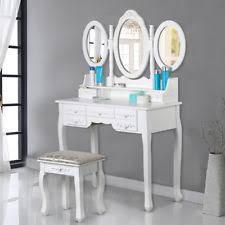 Shabby Chic Vanity Table Shabby Chic Vintage Dressing Table Vanity 2 Good Drawers 3 Mirrors