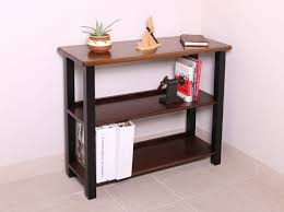 small table with shelves bookshelf table black walnut caretta workspace
