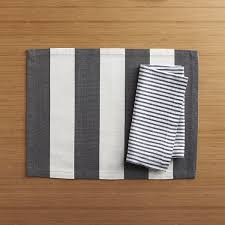 Crate And Barrel Napkins Olin Graphite Placemat Crate And Barrel