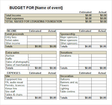 fundraising report template sle event budget template 6 free documents in word pdf