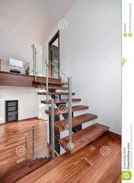 Stairs In House by Contemporary Mahogany Stairs In New House View From Landing Stock