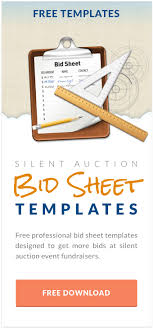 Bid Sheets For Silent Auction Template 6 Reasons To Use Mobile Bidding At Your Fundraising Auction