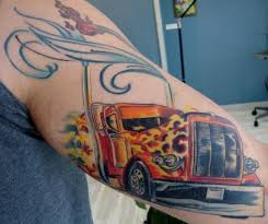 big rig tattoo designs ankle tattoos with a name