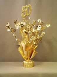 50th Anniversary Decorations Gold 50th Anniversary Table Centerpiece