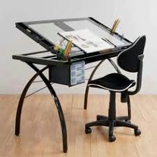 Studio Rta Drafting Table Features Adjustable Angle Table Top From Flat To 90 Degrees