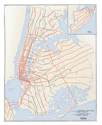 New Jersey New York Map by Historical Map Plans For New York Subway Expansion 1920