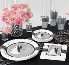 and white wedding wedding reception supplies wedding reception tableware party city