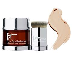 it cosmetics bye bye redness anti aging concealing cream w brush
