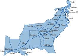 Map Of United States East Coast by System Map