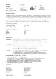 Receptionist Profile Resume Sample Resume Administrative Coordinator Administrative