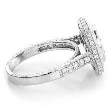 circle engagement ring white and blue circle engagement ring 1 65ct 14k