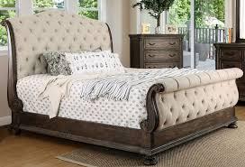 California King Sleigh Bed Furniture Of America Lysandra Rustic Tone Cal King Sleigh