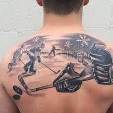 hockey scene brandon heffron beloved studios st paul mn tattoo