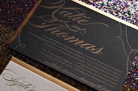 black and gold wedding invitations real wedding and black and gold wedding invitations