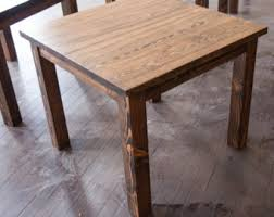Rustic Dining Table Etsy - Rustic wood kitchen tables