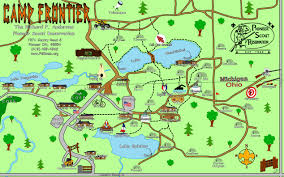 Map Oh Ohio by Maps And Directions Camp Frontier Pioneer Scout Reservation