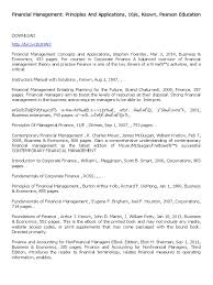 financial management principles and applications 10e cyborg