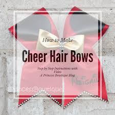bowtique hair bows diy how to make cheer hair bows by princess bowtique princess