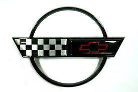 c4 corvette emblem 1991 1996 c4 corvette gas door emblem black rpidesigns com