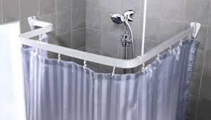 supporto tenda doccia bastone per tenda doccia asta di angolo a pressione della ebay
