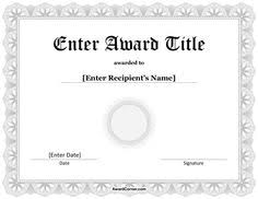blue ribbon certificate for microsoft word download the