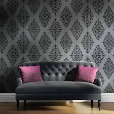 damask stencil arabesque brocade wall stencil pattern for diy