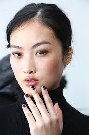 clic french makeup nyfw fall winter 2016 2016 makeup nail polish trends defined jet black