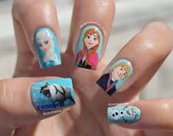 absolutely awesome disney nail art disney disney frozen nails