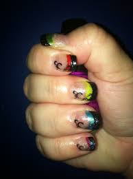 tiny plastic fingernails rainbow nails using broadway fashion