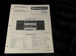 original sanyo c50 boombox c 50 portable radio cassette recorder c